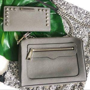 Rebecca Minkoff Gray Avery Crossbody Bag & Wallet